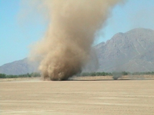 Dust Devil. NASA photo.